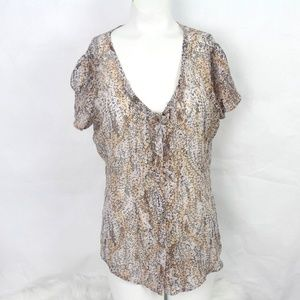 Kimchi Blue Womens Urban Outfitters Silk S/S Sheer